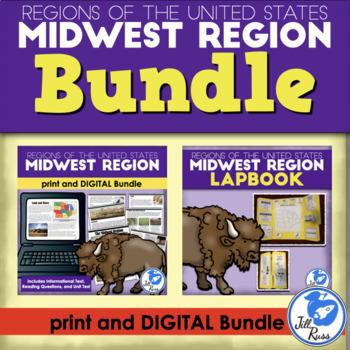 Midwest Region Lapbook and Unit Bundle (5 Regions)