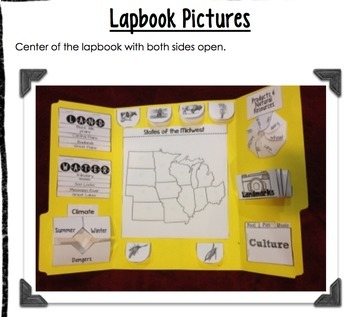 Midwest Region Lapbook or Interactive Notebook {Four Regions}