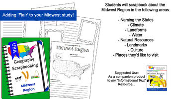 Midwest Region - Learning about the U.S. Regions Geography BUNDLE