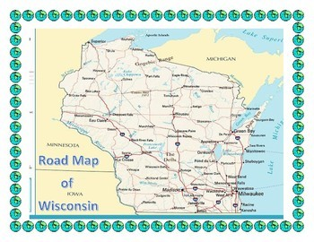 4th Grade Midwest Region Maps, Flags, Data, and Geography Assessment Bundle