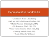 Midwest Region Representative Landmarks and Significant Features