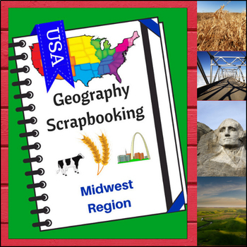 Midwest Region Scrapbooking Pages - United States Geography
