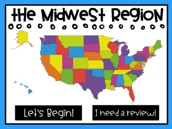 Midwest Region - States and Capitals Review