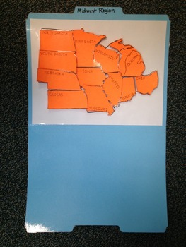 Midwest Region Study Folders-States and Capitals