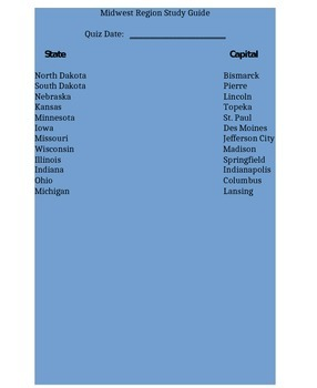 Midwest Region Study Guide