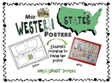 Midwest Region US State Posters