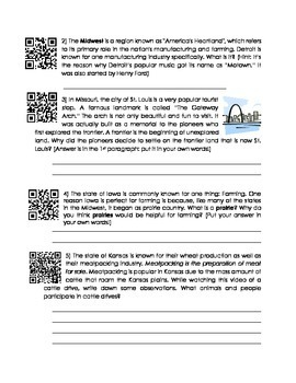 Midwest Region Webquest with QR Codes