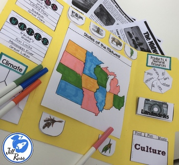 Midwest Region of the United States Lapbook or Interactive Notebook