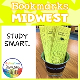 Midwest United States Bookmarks with States, Capitals, and