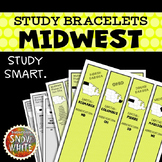 Midwest United States Bracelets with States, Capitals, Abb