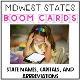 Midwest States, Capitals, and Abbreviations Digital Boom Cards