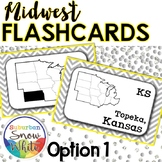 Midwest United States Flashcards, States, Capitals, Abbrev