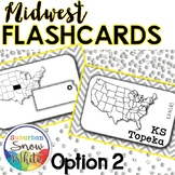 Midwest States and Capitals Flashcards {Option 2}