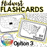 Midwest States Flashcards, States, Capitals, Abbreviations