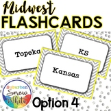 Midwest States and Capitals Flashcards {Option 4}