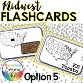 Midwest States and Capitals Flashcards {Option 5}