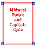 Midwest States and Capitals Quiz