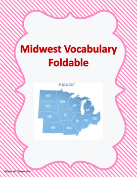 Midwest Vocabulary Foldable