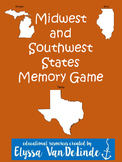 Midwest and Southwest States Memory Game