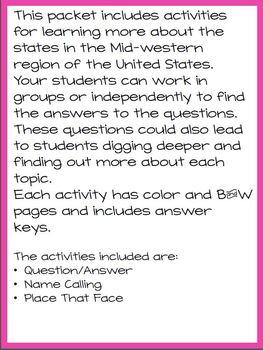 Midwestern Region States Fun Challenge Packet