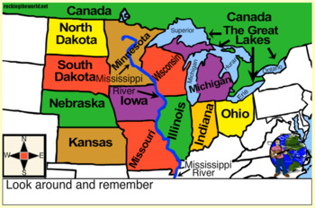Map Of Canada Song.Midwestern United States Geography Song Video Rocking The World