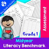 Midyear Literacy Benchmark Assessment Grade 1