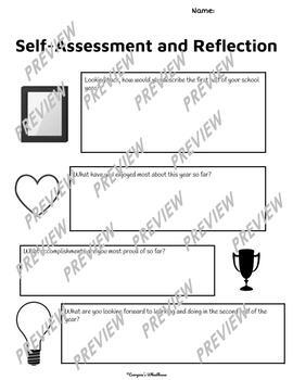 Printable Midyear Student Self-Assessment and Reflection