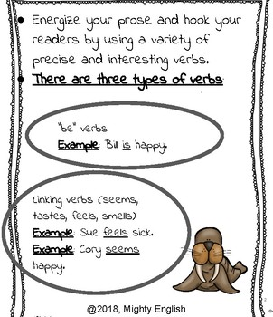Mighty English--Sentence Elements: Varying Verbs and Sentence Length