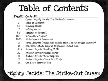 Mighty Jackie: The Strike-Out Queen - 4th Grade Harcourt Storytown Lesson 2