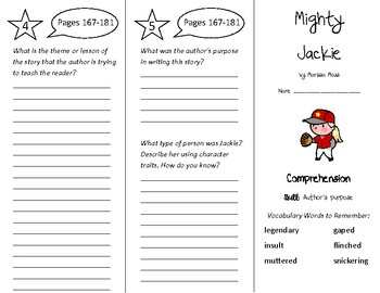 Mighty Jackie Trifold - Treasures 4th Grade Unit 2 Week 1 (2011)