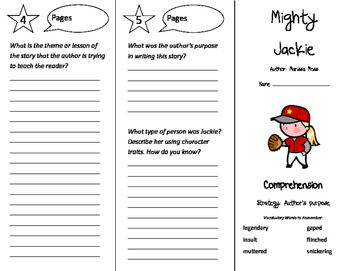 Mighty Jackie Trifold - California Treasures 4th Grade Unit 2 Week 2