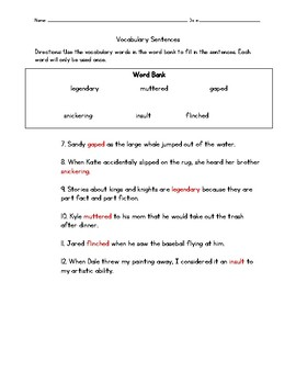 Mighty Jackie Vocabulary Test