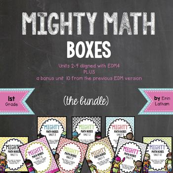 Mighty Math Boxes for 1st grade Everyday Math 4 Bundle