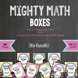 Challenge Math Boxes for 1st grade Everyday Math 4 Bundle