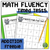 Math Facts Fluency Timed Test Addition