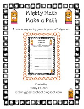 Mighty Math- Make a Path (A Number Sequencing Activity)