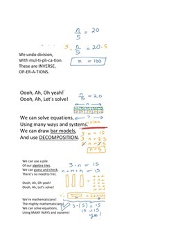 Mighty Mathematicians Math Chant about Solving Equations (G.L.A.D. Strategy)