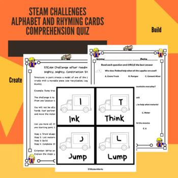 Mighty Mighty Construction Site Book Companion Math, Writing, STEAM