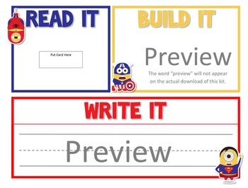Mighty Minions!  Read It, Build It, Write It
