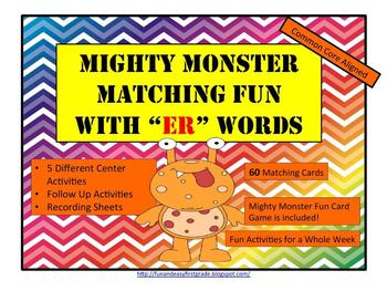 "Mighty Monster Matching Fun with ""er"" Words (Common Core Aligned)"