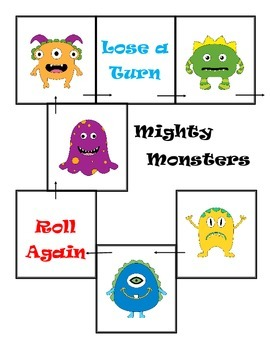 Mighty Monster Math Review Game