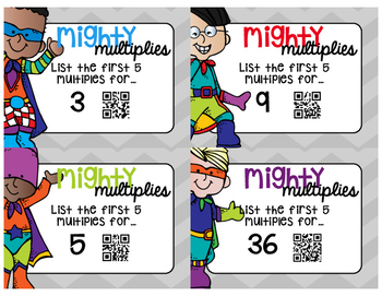 Mighty Multiples - Task Cards