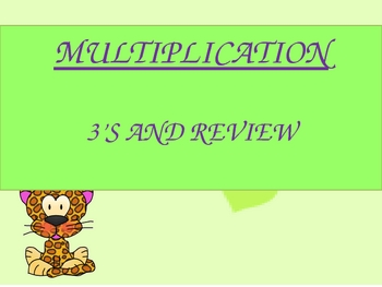 Mighty Multiplication 3s Timed PowerPoint Practice