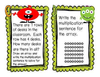 Mighty Multiplication Task Cards aligned to the Common Core