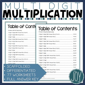 Mighty Multiplication - 2 x 1, 2 x 2,...Differentiated, Scaffolded, Errorless