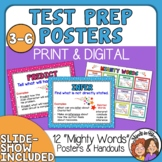 Test Prep Posters and Reference Cards: Test -Taking Words to Know