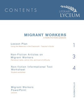 Migrant Workers Non-fiction Lesson for Of Mice and Men