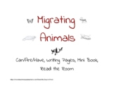 Migrating Animals (graphic organizers, writing pages, mini