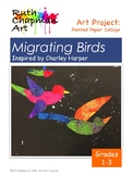 Migrating Birds Inspired by Charley Harper: Art Lesson for