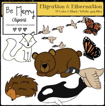 Migration & Hibernation Clipart